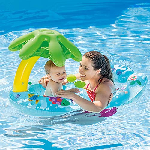 TISS Bebé y mamá Bote en la Piscina, Padres e Hijos Piscina Flotador Asiento Seguro Madre Inflable Kid Kid Swim Ring Summer Fun Swim Trainer