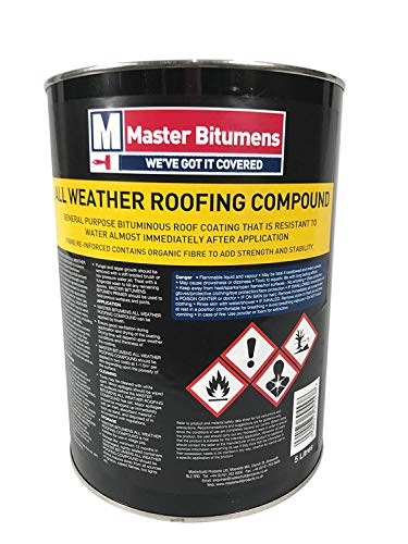 5 Litre All Weather Roofing Compound Waterproof ROOF Coating