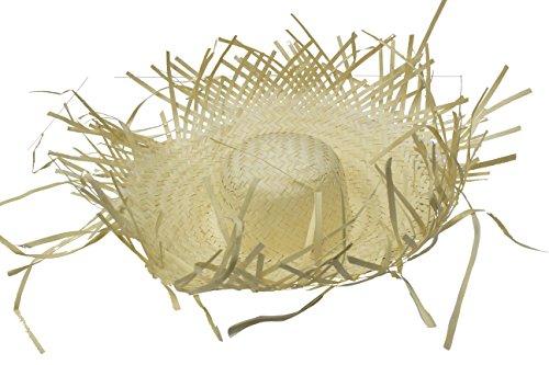 Rire Et Confetti - Fiehaw016 - Accessoire pour Déguisement - Chapeau Paille + Fleurettes