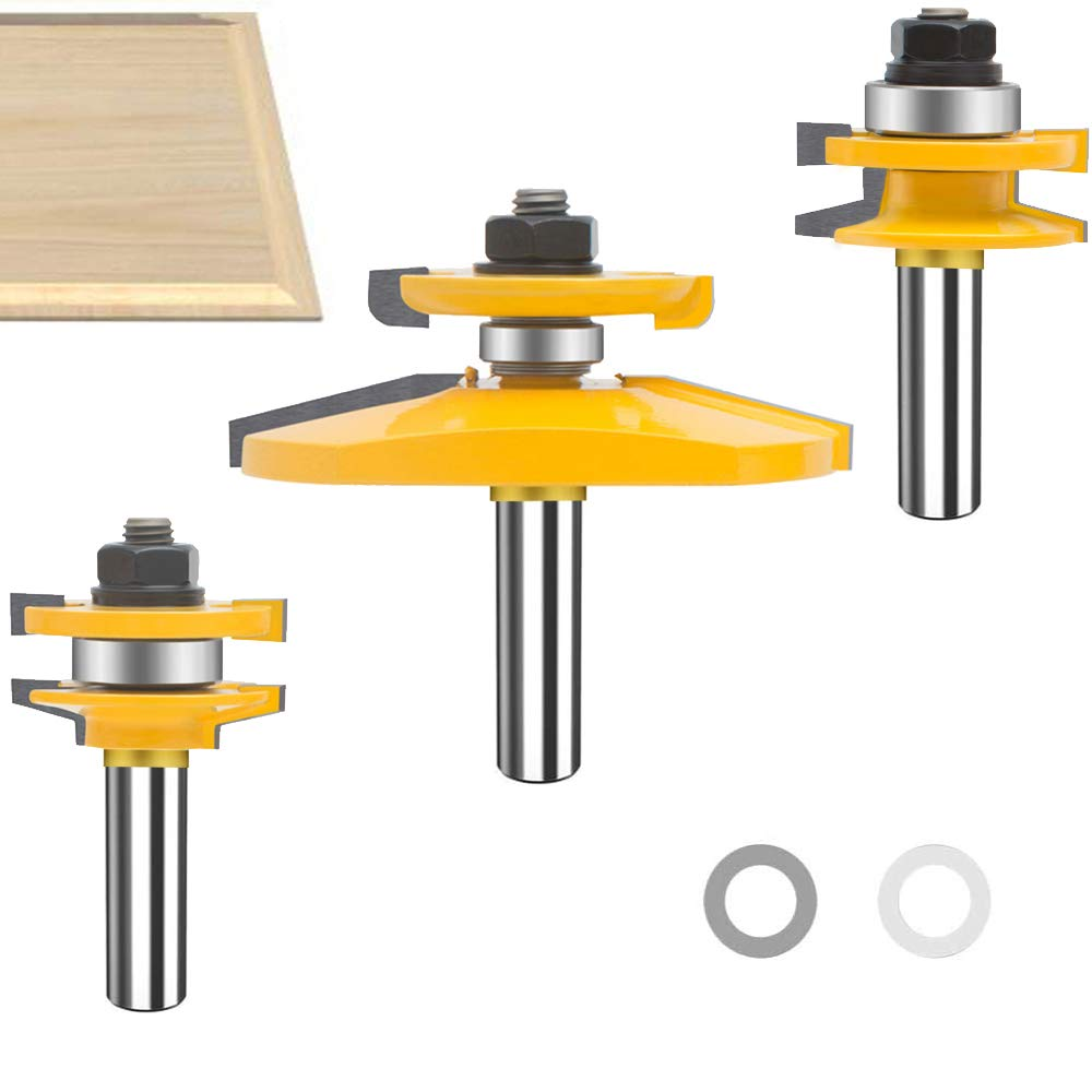 TAIWAIN Router Bit Wood Cutter 1 Raised Soldering discount Shank 2-Inch Bevel 3PCS