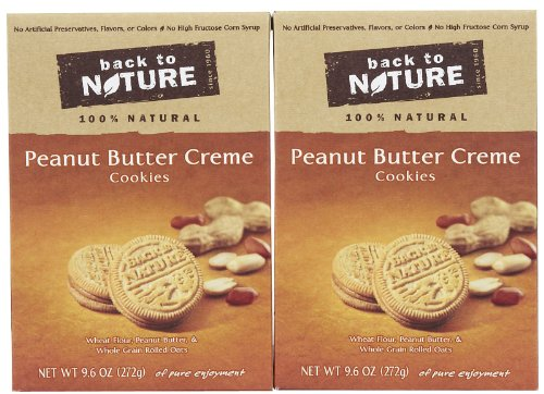 Back to Nature Cookies - Peanut Butter Creme - 9.6 oz - 2 pk
