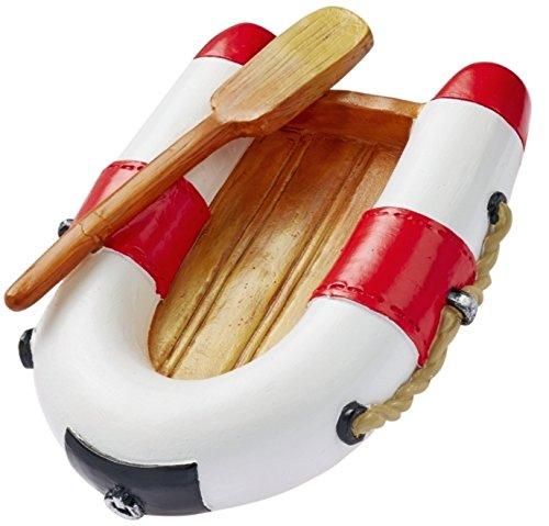 Unbekannt Miniatur Schlauchboot 7 cm rot weiß Figur Deko Urlaub Meer Schiff Strand Ferien Boot