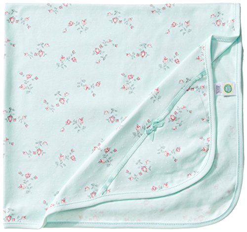 Little Me Baby Girls#039 Floral Spray Blanket Mint Print One Size