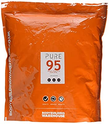 Bodybuilding Warehouse Pure Whey Protein Isolate 95 (Unflavoured, 2kg)