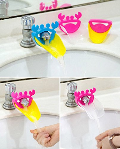 SYGA 2 Piece Faucet Sink Handle Extender for Children-Baby Bathroom Accessory, Excellent Hand Washing Guide Faucet for Home