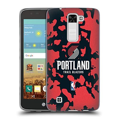 Head Case Designs Oficial NBA Estampado Animal de Vaca Portland Blazers 3 Carcasa de Gel de Silicona Compatible con LG K7 K330 / Tribute 5
