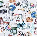 Bontand 46 Pcs Linda del Viaje De La Etiqueta Engomada DIY De La Vendimia Y La Playa Tropicales Pegatinas De Vacaciones En Scrapbooking