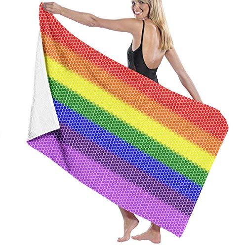 If Not Sechseckige Mosaik Regenbogen Strandtuch Bad Wickel Dusche Handtuch Stranddecke für Sport Schwimmbad Badezimmer