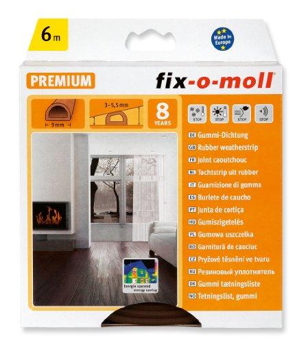 fix-o-moll D-Profildichtung 6 m 6 x 9 mm selbstklebend braun, 3565269