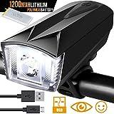 Bike Light Rechargeable USB Bicycle Light Headlight