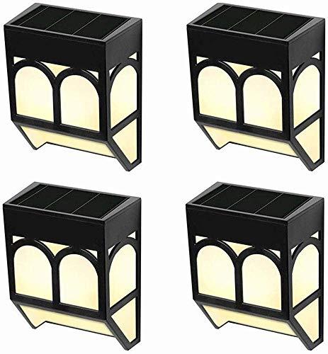 Solarlampen für Außen Garten Wandleuchten - Solar LED Solarleuchten Wasserdicht Solarlicht Wand Hof Deko für Einfahrt, Zaun,Treppe,Haustür,Terrasse,Landschaft, Farbwechsel/Warm Weiß, 6er Packung