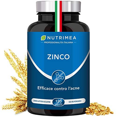 Zinco Citrato | Integratore Alimentare Contro L'Acne | Brufoli | Aiuto Pelle | Altissimo Assorbimento| Antiossidante Per Capelli | Sistema Immunitario | 120 Capsule Vegetali E Vegane