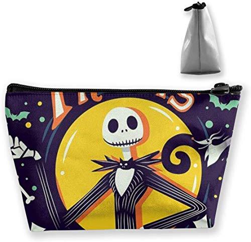 Kosmetiktasche Kosmetiktasche Halloween Jack Multifunktionale Trapez Aufbewahrungstasche Travel Kit Organizer