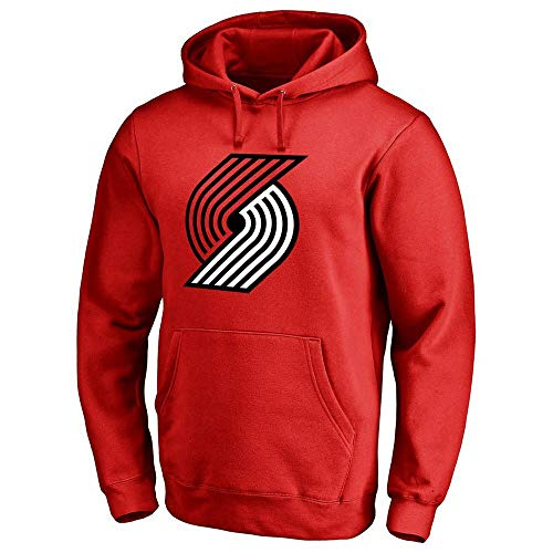 QAZW NBA Sweater Trail Blazers Lillard Hooded Hoodie United States Four Major Leagues Basketball Jerseys Red-L