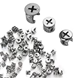 75Pcs Furniture Connecting Cam Fittings, Furniture Connecting Fastener Lock Nut