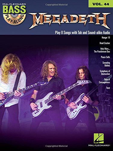 Bass Play Along Volume 33 Megadeth: Noten, CD, Play-Along für Bass-Gitarre: Bass Play-Along Volume 44 (Hal Leonard Bass Play-Along, Band 44)