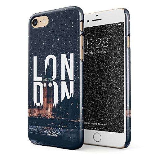 Glitbit Cover per iPhone 7/8 / SE 2020 Case London Big Ben Great Britain United Kingdom England Travel Explore Wanderlust Londra Sottile Guscio Resistente in Plastica Dura Custodia Protettiva