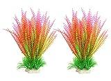 Große Kunstpflanze für Aquarien, Kunststoff, Dekoration für alle Fische, 24 cm hoch, 8 cm breit