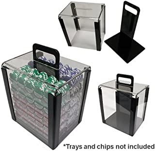 Trademark 1000 Chip Capacity Clear Carrier Chip (Clear)