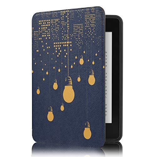 Capa Novo Kindle 10a. Geração Wb - Ultra Leve Auto Hibernação Sensor Magnético Silicone Flexível Luzes