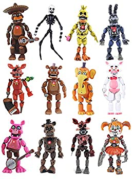 12 Pcs FNAF Action Figures Five Nights Figuers Freddy Toys Foxy Articulated Action Toys Dolls Chritmas Gifts