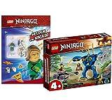 Collectix Lego Set Ninjago Jays Elektro-Mech 71740 + héroes de Ninjago (cubierta blanda), incluye minifigura Lloyd