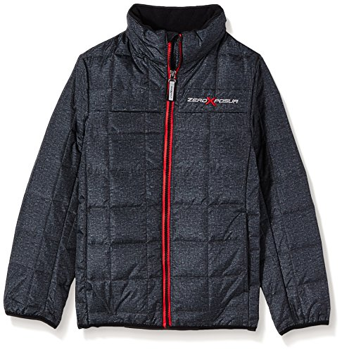 ZeroXposur Boys' Big Dominator 3in1 System Jacket, Red/Black, Small