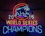 Queen Sense 20'x16' 2016 World Series Champions Chicago Cub Neon Sign (VariousSizes) Beer Bar Pub Man Cave Business Glass Lamp Light DC438