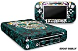 247 Skins Graphics kit Sticker Decal Compatible with Nintendo Wii U and Controllers - Sugar Skully