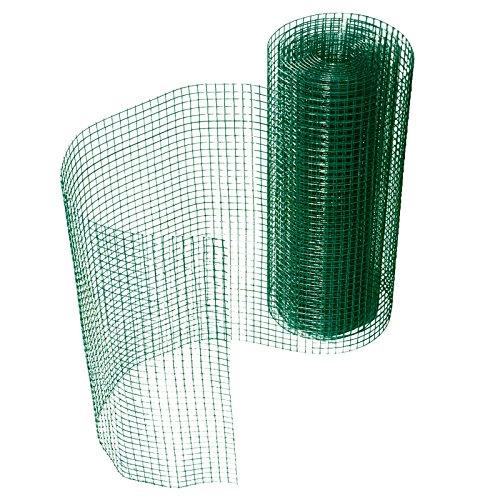 casa pura Grillage pour Jardin clôture Vert | Tailles au Choix | Maille carré de 12,7mm | résistant aux intempéries | Bricolage, 50cmx10m