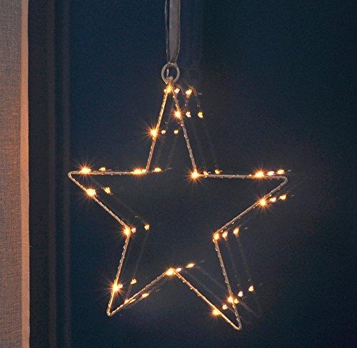 Fenster-Silhouette Stern 30 cm beleuchtet (76506) Weihnachtsdeko Fensterdeko
