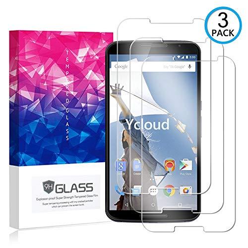 Ycloud [3 Pack] Pellicola Protezione di Schermo per Google Moto Nexus 6,[9H Dureza/0.3mm],[Alta Definicion] Vetro temperato Pellicola Protettiva per Google Moto Nexus 6