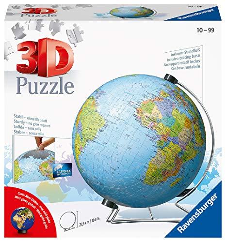 Ravensburger 3D Puzzle 11159 - Globus in deutscher Sprache - 540 Teile