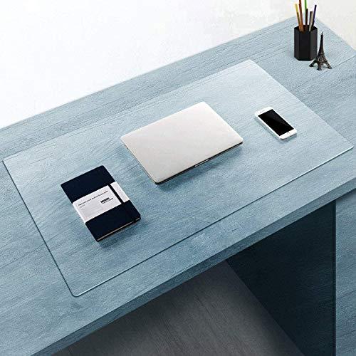 Alfombrilla de escritorio transparente impermeable, PVC grande, alfombrilla de ratón, protector de escritorio para ordenador portátil, Almohadilla De Escritorio Protector Oficina Alfombrilla De Ratón