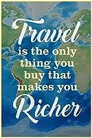 ERZANジグソーパズル 300 ピース旅行はあなたを豊かにする唯一の買い物ウッド パズル