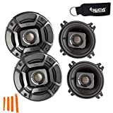 Polk Audio - Two Pairs of DB402 4' Coaxial Speakers - Marine and Powersports Certification