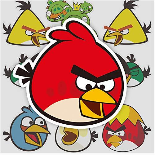 ZAQQ Angry Birds Game Cartoon Maleta Maleta Portátil Ordenador Skateboard Guitarra Impermeable Pegatina