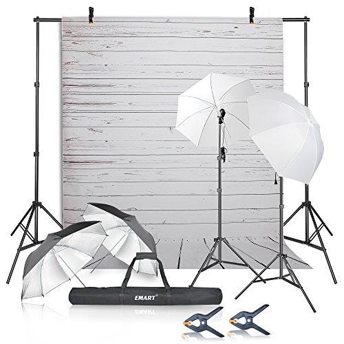 Emart Photography Umbrellas Continuous Lighting Kit, 400W 5500K, 10ft...