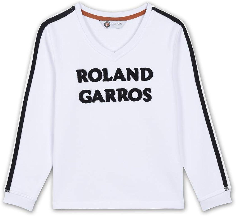 Roland Garros - Sweatshirt mit V-Ausschnitt für Mdchen - Wei