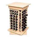 Chenbz Huiles essentielles d'affichage Organisateur 104 à sous huile en bois Porte- parfait Huiles essentielles de stockage (Couleur: Naturel, Taille: 40.5X23.5X23.5CM)