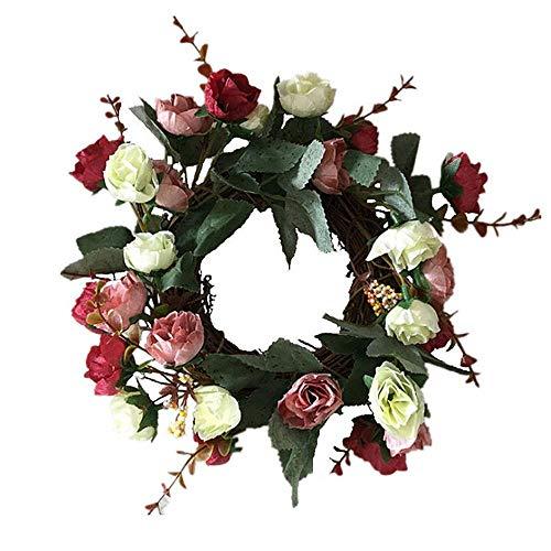 Aomerrt zijde kunstmatige roos bloem kransen deur opknoping nep bloem slinger voor bruiloft decoratie Thuis partij raamdecoratie