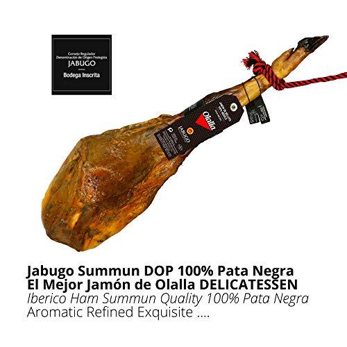 Jamon Iberico de Bellota 100% Iberico DOP Jabugo Summun - Jamon de Jabugo Pata Negra con Calidad Certificada Summun - Embutidos Ibericos de Bellota - Pieza Completa Tradicional 8 - 8.5 kg