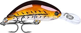 HighlifeS Fishing Bait 1PC Fishing Lures Plastic Hard Practical Bass Baits Colors Minnow Lures (F)