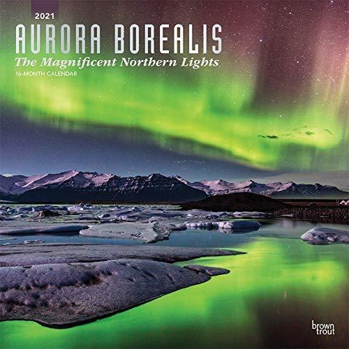 Aurora Borealis: The Magnificent Northern Lights - Nordlicht 2021 - 16-Monatskalender: Original BrownTrout-Kalender [Mehrsprachig] [Kalender] (Wall-Kalender)