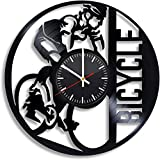 Regalo de graduación de 12 Pulgadas Bicicleta Bicicleta Kross Reloj de Pared de Vinilo para Bicicleta de montaña, Disco de Vinilo Decoración artística Hecha a Mano para la Cocina de la habitación del