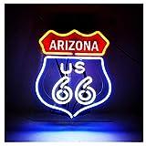 ARIZONA US Route 66 leuchtschild für Dekoration, Zuhause, Bar,...