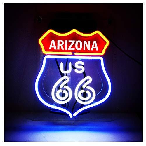 ARIZONA Route 66 - Señal luminosa para decoración de casa, regalo, luz de noche