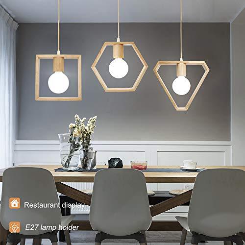 Artpad esagonale triangolo forma quadrata 3 luci lampada a sospensione a soffitto per sala da pranzo...