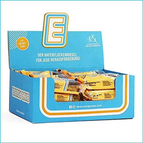 Energy Cake – Haferflocken Riegel mit langkettigen Kohlenhydraten, weniger Zucker & einzigartigem Geschmack – original Flapjack & Oat Meal Snack aus Österreich - Schoko-Orange 24x 125g (3kg)