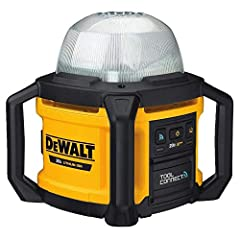 Led provides natural white light for jobsite illumination Set up with freestanding, tripod-mounted (sold separately), or hanging via hook Durable impact-resistant design stands up to jobsite conditions Battery and Charger sold separately